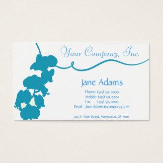 Light Blue Floral Business Card