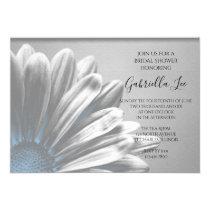 Light Blue Floral Highlights Bridal Shower Invitation