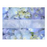 Light Blue Floral Wedding RSVP Postcard