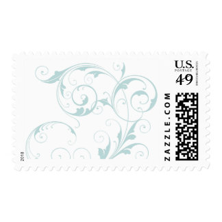Light Blue Flourish Stamp