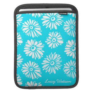 Light Blue Flowers iPad Sleeve