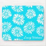 Light Blue Flowers Mousepad