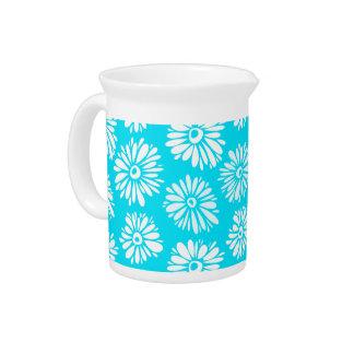 Light Blue Flowers Pitcher