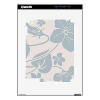 Light Blue Flowers Skins For iPad 2