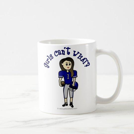 Light Blue Football Coffee Mug