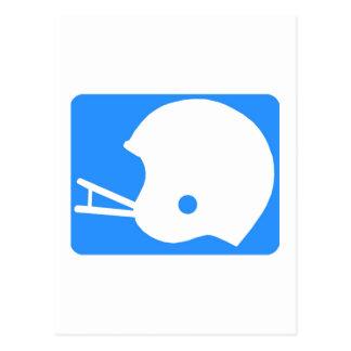 Light blue Football Helmet Logo Postcard
