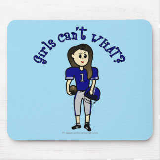 Light Blue Football Mouse Pad