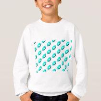 Light Blue Football Pattern Sweatshirt