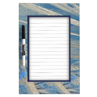 Light Blue Frosted Fractal Design Dry Erase Whiteboards
