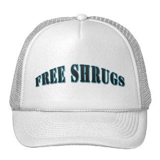 Light Blue Funny Free shrugs Hat