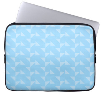 Light Blue Geometric Abstract Pattern. Computer Sleeve