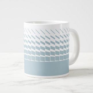 Light blue geometric kinetic art graphics giant coffee mug