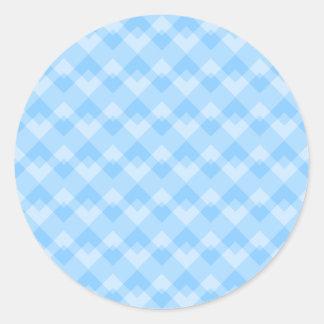 Light Blue Geometric Pattern. Classic Round Sticker