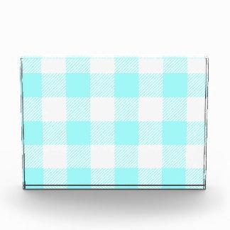 light blue gingham check pattern award