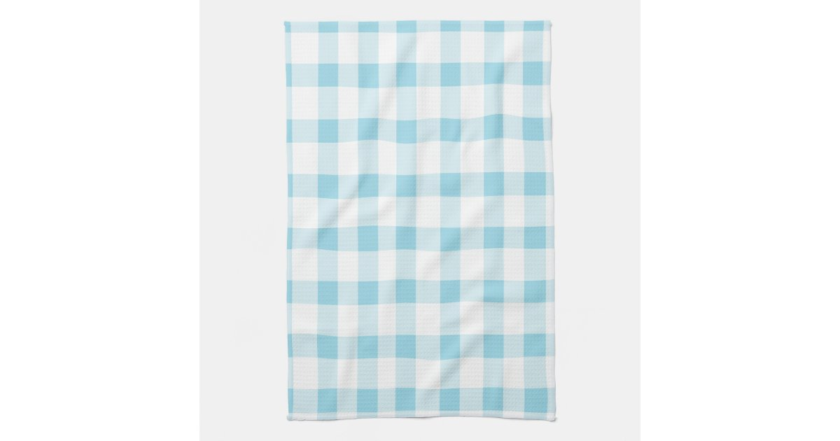 light blue kitchen towels light blue gingham kitchen towels zazzle 6965