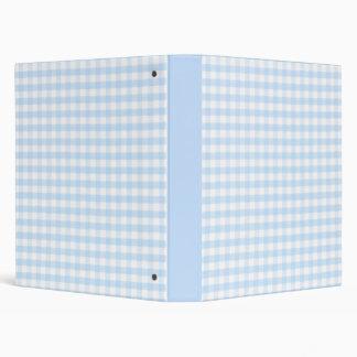 Light blue gingham pattern binder