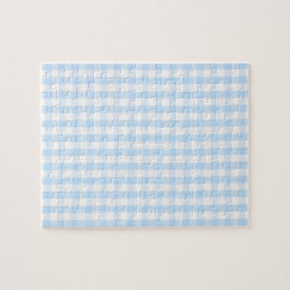 Light blue gingham pattern jigsaw puzzle