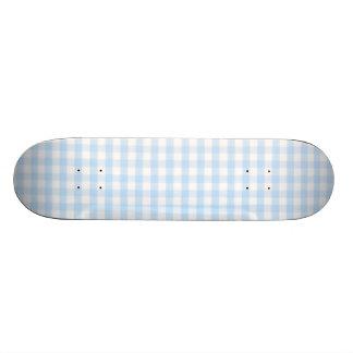 Light blue gingham pattern skate board decks