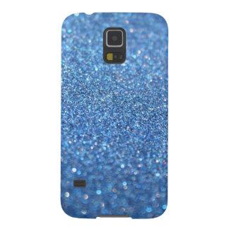 Light Blue Glitter Galaxy S5 Cover