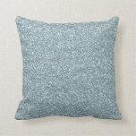 Light Blue Glitter Pillows