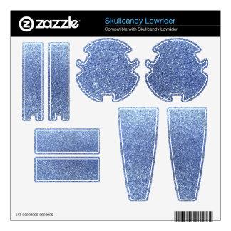 Light blue glitter skullcandy lowrider skins