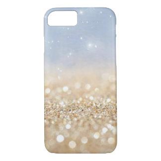 Light Blue & Gold Glitter iPhone 7 Case