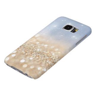 Light Blue & Gold Glitter Samsung Galaxy S6 Case