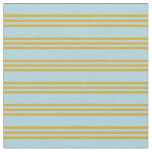 [ Thumbnail: Light Blue & Goldenrod Pattern Fabric ]