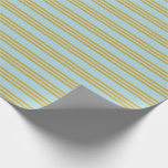 [ Thumbnail: Light Blue & Goldenrod Pattern Wrapping Paper ]