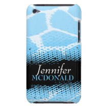 Light blue graphic animal print ipod touch case