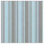 [ Thumbnail: Light Blue & Gray Pattern of Stripes Fabric ]