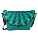 Light Blue Green Celtic Fractal Courier Bag