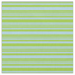 [ Thumbnail: Light Blue & Green Colored Lined Pattern Fabric ]