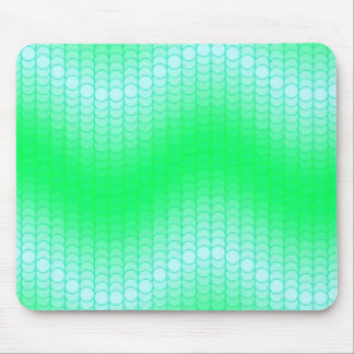 Light Blue Green Dot Wave Mouse Pad