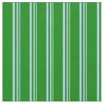 [ Thumbnail: Light Blue & Green Lined/Striped Pattern Fabric ]