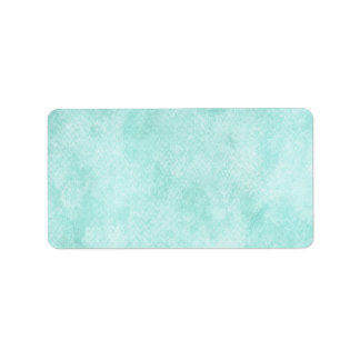 Light Blue Green Watercolor Paper Background Blank Label