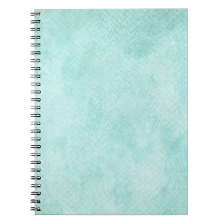 Light Blue Green Watercolor Paper Background Blank Spiral Notebook