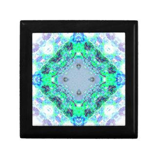 Light Blue  & Green Wildflowers Designs Gifts Jewelry Box