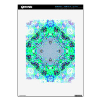 Light Blue  & Green Wildflowers Designs Gifts iPad 3 Decal
