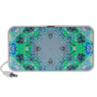Light Blue  & Green Wildflowers Designs Gifts Mini Speaker