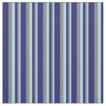 [ Thumbnail: Light Blue, Grey & Midnight Blue Colored Lines Fabric ]