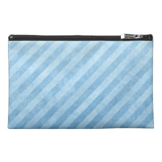 Light Blue Grunge Stripes Travel Accessories Bags