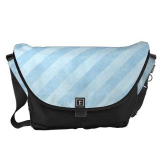 Light Blue Grunge Stripes Courier Bag