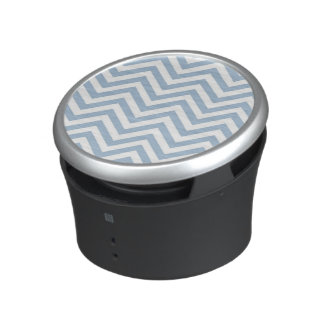 Light Blue Grunge Textured Chevron Bluetooth Speaker