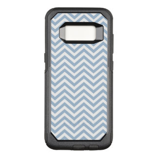 Light Blue Grunge Textured Chevron OtterBox Commuter Samsung Galaxy S8 Case