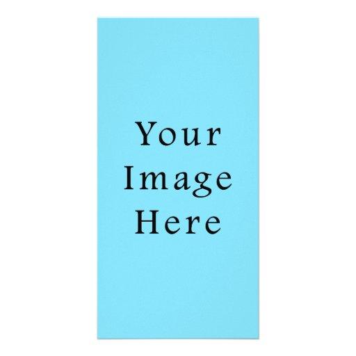 Light Blue Hanukkah Chanukah Hanukah Template Photo Greeting Card