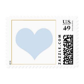 light blue heart postage