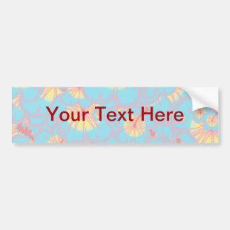 Light blue hibiscus car bumper sticker