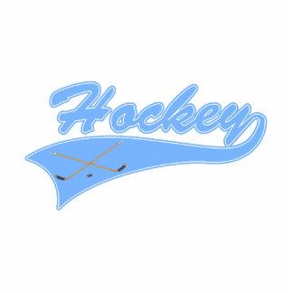 Light Blue Hockey Logo Statuette