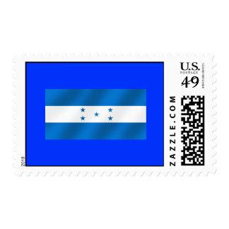 Light Blue Honduras glossy flag gifts Stamps